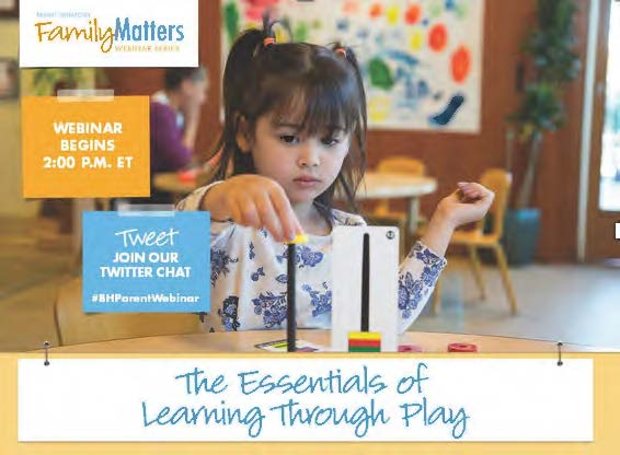 """Learning through Play"" Webinar with Bright Horizons"